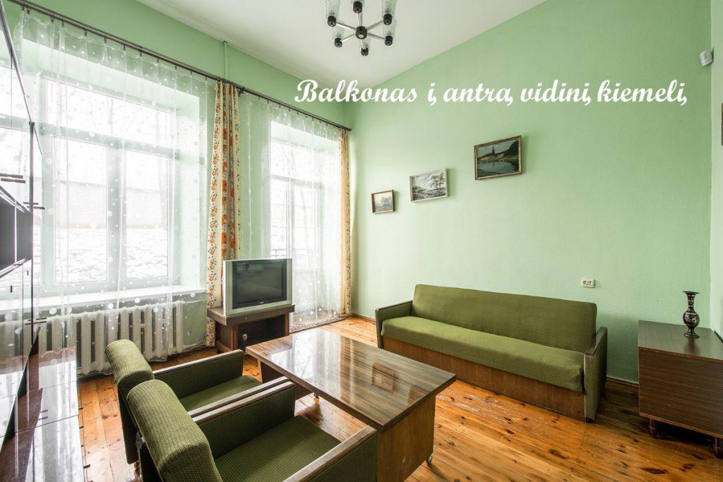 4 kambarių butas Naujamiestyje